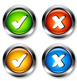 Chrome checkmarks buttons vector