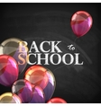 Back to school educational with blackboard texture vector