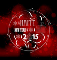 Happy new year ball light background vector