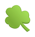 Green shamrock clover on st patrick day vector