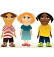 Three children mascotes vector