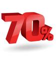 70 percent digits vector