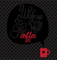 Card with coffee lettering i love coffee vector