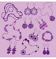 Fashion jewelry silhouettes vector
