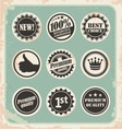 Set of promotional retro labels vector