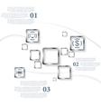Metallic squares infographic design vector