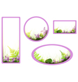 Banners with viola flowers vector