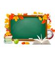 Back to school chalk board vector