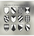 Set of shields black and white 2 vector