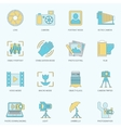 Photography icons flat line vector