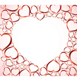 Valentines background with red hearts vector