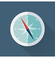 Mint compass flat icon over blue vector