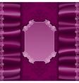 Elegant template invitation with textile vector