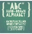 Blackboard chalkboard chalk hand draw doodle abc vector