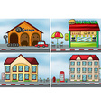 Houses and shops vector