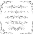Ornate corners and page dividers vector