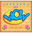 Wow background vector