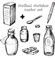 Medical sketches set vector