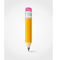 Back to school yellow pencil vector