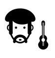 Musician sign vector