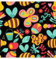 Seamless floral pattern summer composition with vector