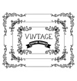 Set of hand-drawn calligraphic vintage frames vector