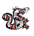 China dragon drawing vector