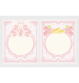 Floral wedding invitation card with wedding couple vector