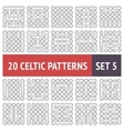 Celtic patterns set vector