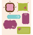 Collection of design retro tags vector