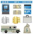 Bank icons set 4 vector