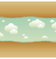 Clouds and old paper vector