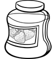 Jam in jar cartoon coloring page vector