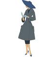 1950s woman vector