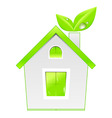 Green house icon ecology concept vector