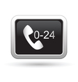 Support center call 24 hours icon vector