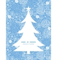 Purple lace flowers christmas tree silhouette vector