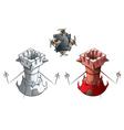 Chess set rooks vector