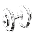 Gum weight dumbbell cartoon icon vector
