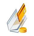 Icon credit card vector