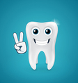 Beauty and happy human tooth vector