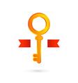 Gold key logo icon design template real estate vector