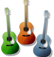 Colored guitars vector