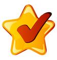 Yellow checkmark star vector