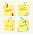 Yellow paper option banner vector