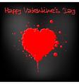 Grunge valentine's day card vector