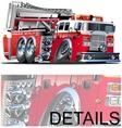 Cartoon firetruck vector
