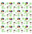 Palm trees umbrellas seamless pattern vector