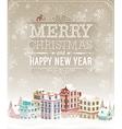 Christmas city card vector