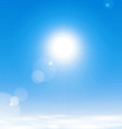 Sun above the clouds vector